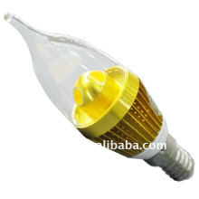 High power 3w e27 e14 water proof led light candle
