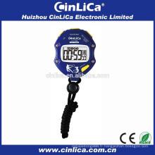 Mini chronomètre de chronomètre électronique avec fonction de compte à rebours de 6 jeux CT-700