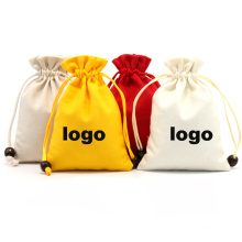 Wholesale canvas printed full color drawstring bag eco-friendly colorful mini cotton gift drawstring bags