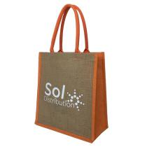 Favorable price of natural polka dot waterproof jute guuny bags with handle