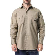 FR Work Shirt с длинным рукавом мужские рабочие рубашки