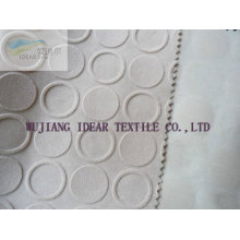Embossed Flocked Polyester Fabric for Cushion