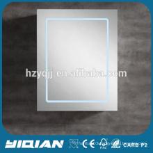 Hangzhou LED Lighted Vanity Mirror Wall Hanging MDF Bathroom Mirror Cabinet