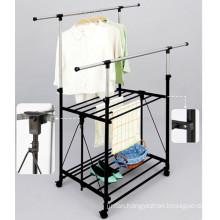 Foldable Double Layer Clothes Hanger