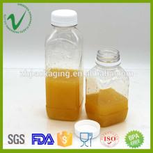 Uso quente de bebidas com venda de suco de pressão fria Fabricação de garrafas plásticas de quadrado francês