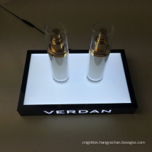 Custom Design Countertop LED Acrylic Makeup Mac Cosmetic Display Stand Base