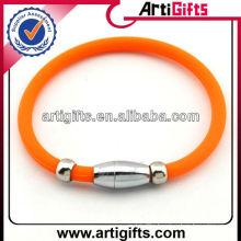 Fashion silicone magnetic bracelet