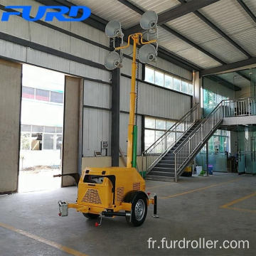 4-spotlight Mobile Lighting Tower with Single-phase 5 KVA Set