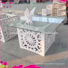Qingdao Sino Furniture Fresh Design Wedding White Table