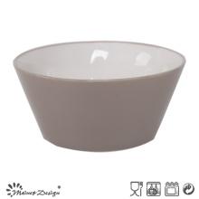 13.6cm Ceramic Bowl Outside Grey Inside White