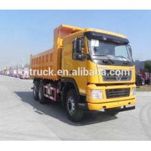 Dayun marca 6X4 drive dump truck para 10-25 metros cúbicos