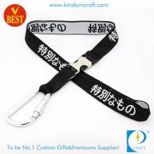Personalizado de alta qualidade moda tecido cordão com grampo de metal no preço de fábrica da China