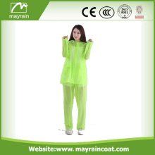 Flourocent Yellow Cheap PVC Rain Suit