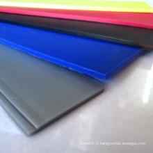 Planche en plastique colorée de pp pp de polypropylène / pp