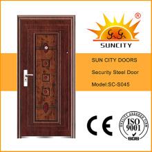 China Steel Door Low Prices Iron Door Stainless Steel Grill Door Design (SC-S045)