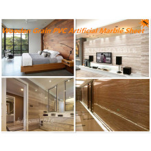Wooden Grain Type PVC Faux Marble Panels