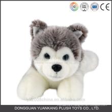Black and white animated stuffed plush puppy angel dog