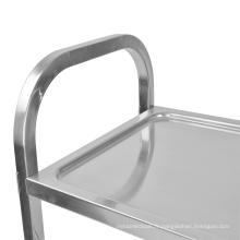 Chariot de salle à manger en acier inoxydable à trois couches