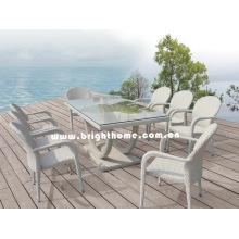 Vajilla de ratán de alta calidad comedor conjunto muebles al aire libre Bw-459d