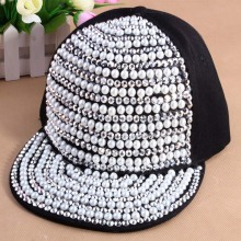 Diseño de perlas personalizado instalado gorra visera plana snapback hombres