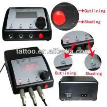 Profissional Digital LED dupla fonte de alimentação de tatuagem