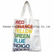 Custom Full Color Printing White Cotton Canvas Shopping Tote Bag