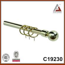 C19230 bola de metal bordes de la barra de cortina de fantasía, doble barra única accesorios de la barra de la cortina