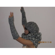 women style hats/scarf/gloves knitted in 3gg fow winger season