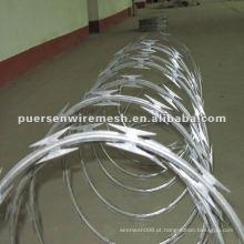 Fabricação de arame farpado em aço inoxidável