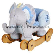 Washable Rocking Animal-Blue Elephant with Safeguard