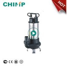 CHIMP V serie 0.75HP soporte de acero inoxidable eléctrica auto aguas residuales bomba sumergible