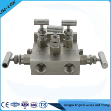 La soupape à racine haute précision de haute pression de SS et les distributeurs à cinq soupapes en Chine