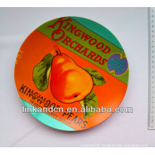 Best quality ceramic fruit plate with pear design,decorate dinner plate with custom design
