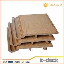 Panel de pared WPC de plástico compuesto de madera para revestimiento de pared exterior, protección UV