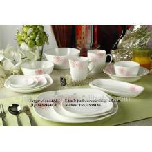 Simples morden único design porcelana cerâmica dinnerware set