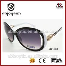 2015 gafas de sol de la manera de la señora con diseño único del patrón de la bisagra del metal venta al por mayor Alibaba