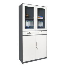 Tall Storage Cabinets with Doors and Drawers