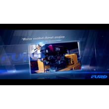 Rolo compactador vibratório de cilindro duplo para motor diesel para venda FYL-850S