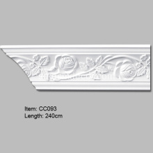 Crown Molding Trim med rosedesign