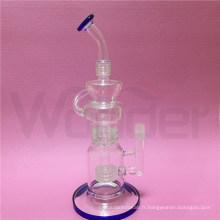 Tuyau d'eau de fumer de verre de taille de vente chaude de 12inch