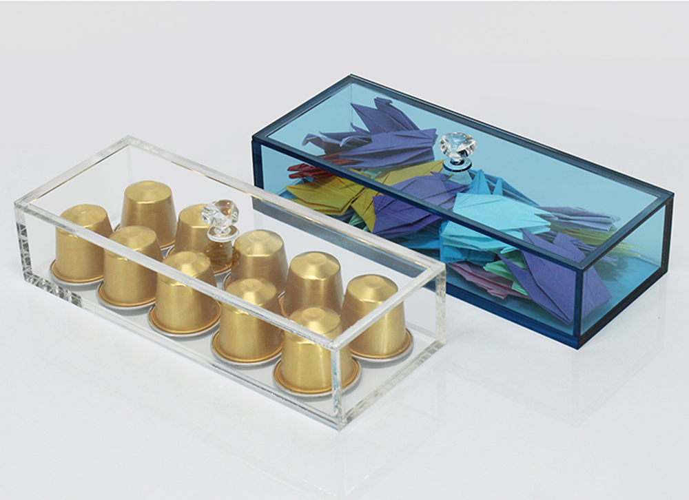 Acrylic Rectangular Boxes With Lid