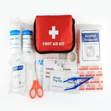 Personalizar Logo Mini Medical Red kit de primeiros socorros