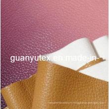 Tissu en cuir artificiel PU pour canapé