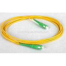 Fourniture d'usine de Shenzhen Cordon de raccordement fibre optique SC APC, câble de raccordement à fibre optique singlemode SC à prix abordable