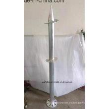 Tornillo de tierra galvanizado de alta DIP basado en fábrica