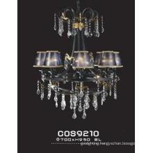 Luxury Hotel Decoration Crystal Hanging Light with Shade (cos9210)
