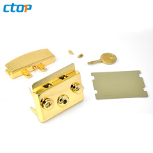 Fashion Bag Accessories Light Gold Handbags Hardware Bag Lock Metal Handbag Lock Fashion Square Bag Lock