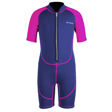 Seaskin Girls Zip Depan Shorty Neoprene CR Wetsuits