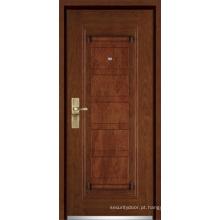 Porta blindada de madeira de aço / porta blindada (YF-G9009)