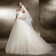 Trägerlose Feder Brautkleid für Hochzeit